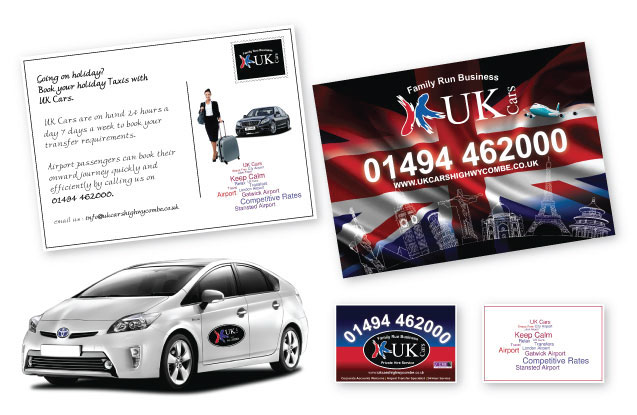 UK Cars Post Card Printing